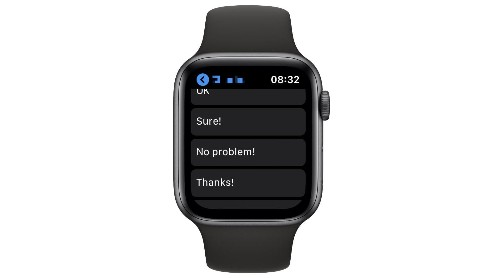 How to customize Apple Watch iMessage smart replies | Cult of Mac