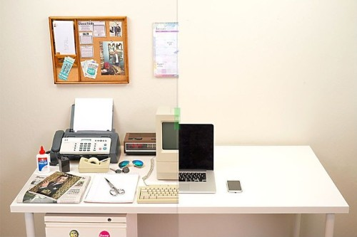 See how Mac magically decluttered our desks over past 30 years
