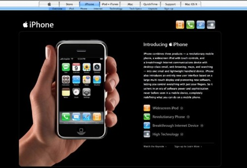 Explore Apple's website from the day it unveiled the original iPhone