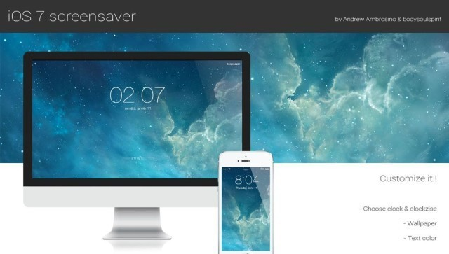 New Screensaver Puts The iOS 7 Lock Screen On Your Mac