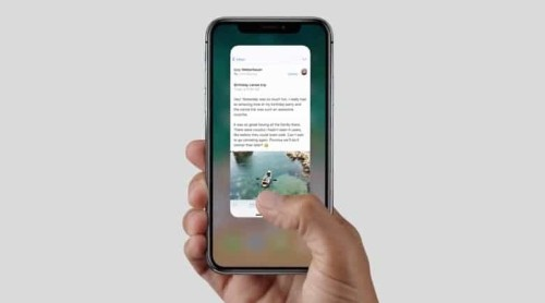 Learn all the new gestures for iPhone X
