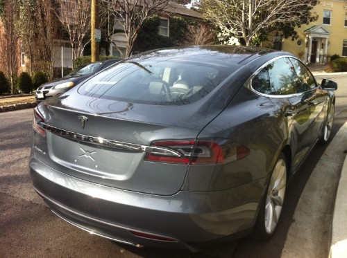 Tesla electric car can now (almost) drive itself