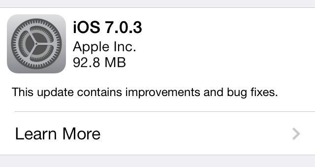 Apple Releases iOS 7.0.3 With iCloud Keychain, iMessage Fix, And More