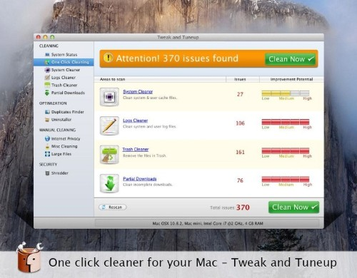 Free app Tweak and Tuneup boosts performance of your Mac