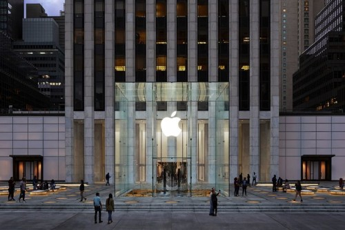 Apple's iconic Fifth Avenue store reopens Friday — without the glass stairs