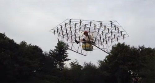 First manned drone uses 54 propellers