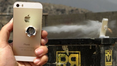 Gold iPhone 5s Gets Into A Gunfight With A .50 Cal Rifle – Guess Who Wins? [Video]