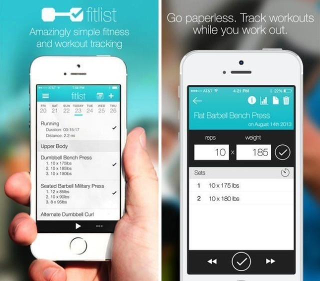 Fitlist fitness tracker adds progress graphs and workout-sharing options