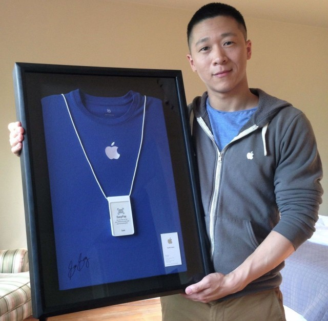 Sam Sung's last Apple Store shirt is being auctioned for charity