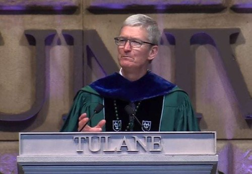 Watch Tim Cook's recent Tulane University commencement speech