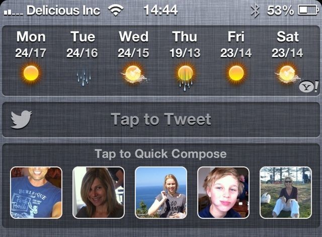 BiteSMS Gets Quick Compose Widget For Notification Center [Jailbreak]