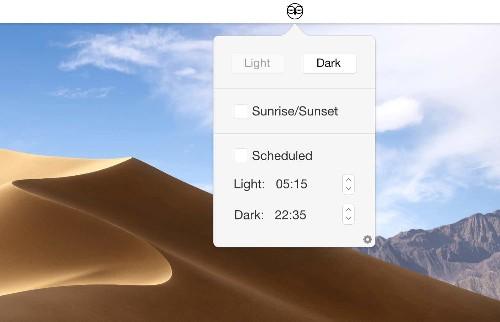 NightOwl switches on Mojave's Dark Mode at sundown