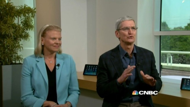 """Apple and old archrival IBM """"fit like a puzzle,"""" says Tim Cook"""