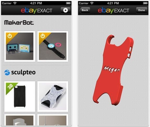 Ebay Exact For iOS Lets You Purchase Custom 3D Printed Products On The Go