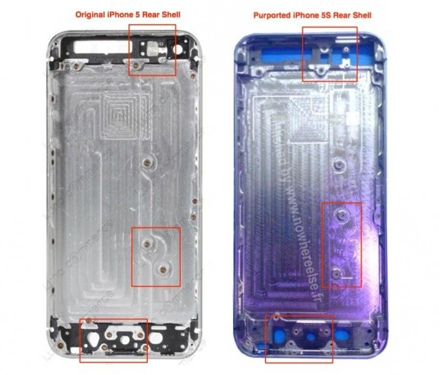 Purported iPhone 5S Rear Shell Hints At A Number Of Internal Changes