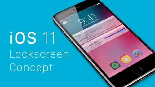 iOS 11 concept imagines an all-new lockscreen