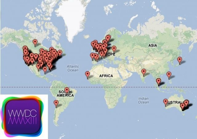 Developers From Nearly Every Continent Will Be Attending WWDC 2013