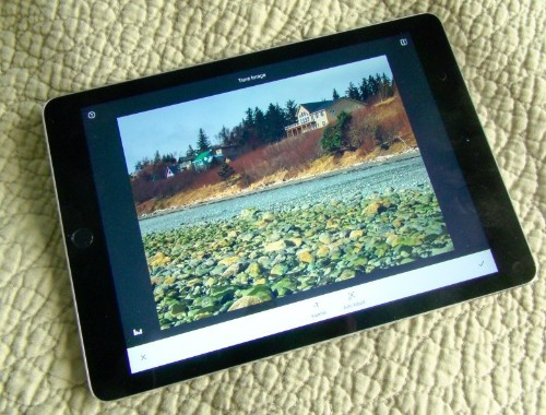 Use free Snapseed on iPad to tune your photos to best effect
