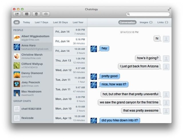 Chatology From Flexibits: A New App For Searching Messages On The Mac