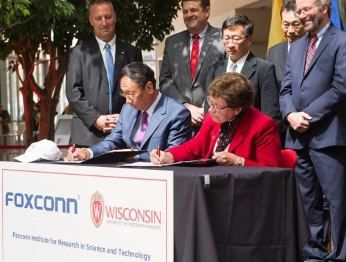 Foxconn teams with Wisconsin university for $100 million lab