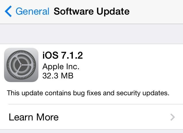 iOS 7.1.2 released with iBeacon improvements, small bug fixes