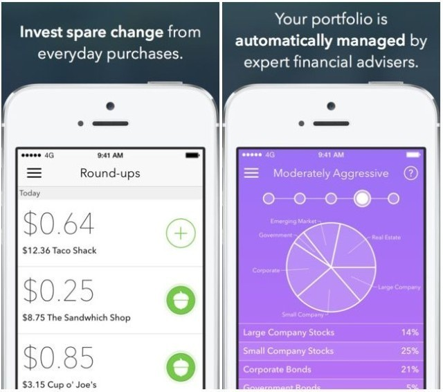 Acorns, a beautiful iPhone app that automatically invests your spare change