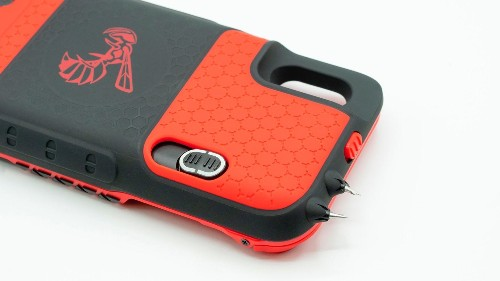 Take down muggers with Yellow Jacket iPhone stun gun case