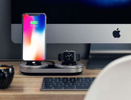 Stylish dock lets you charge Apple devices two at a time