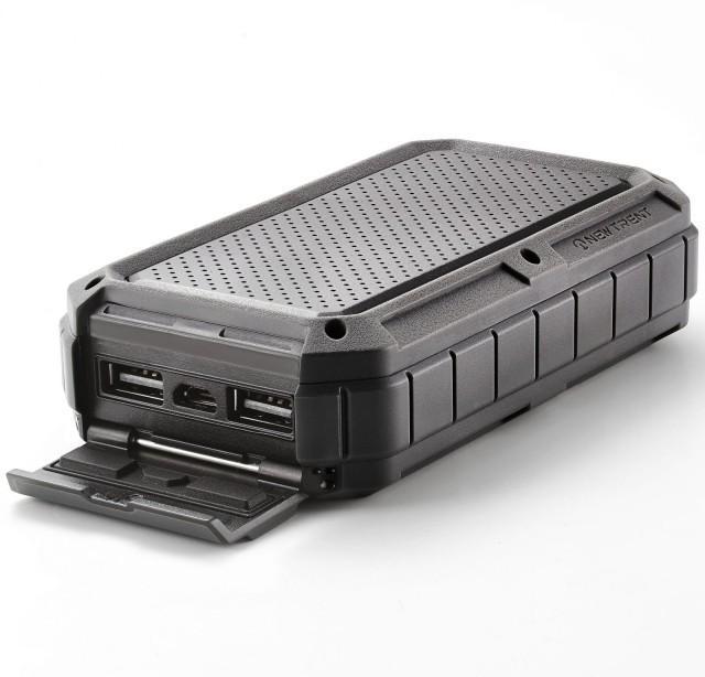 Rugged 12,000mAh Battery Pack Is Waterproof, Adventure-Proof