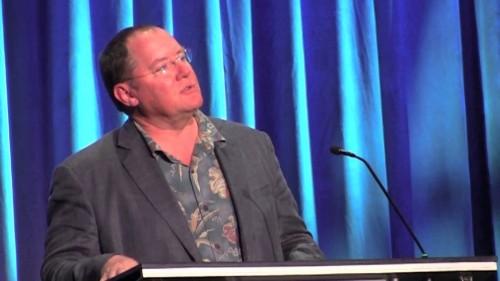 Pixar's John Lasseter Emotionally Accepts Disney Legends Award For Steve Jobs [Video]