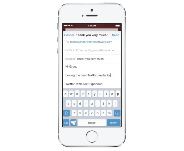 Smile's custom TextExpander keyboard for iOS 8 will save you time typing