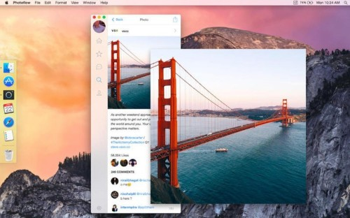 Photoflow, a beautiful Instagram client for the Mac