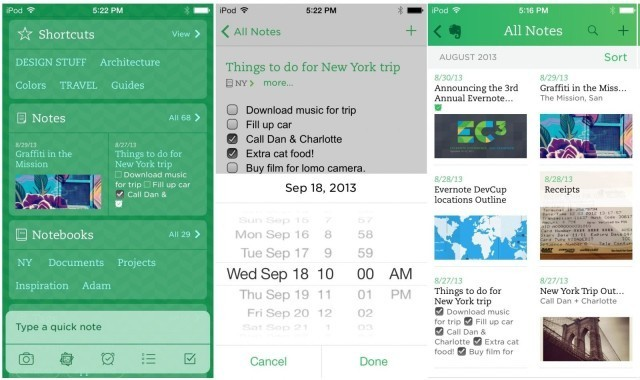 Cleaner, Faster, Simpler: It's A Brand New Evernote For iOS 7