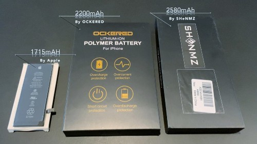 High-capacity batteries extend the life of your iPhone... sometimes