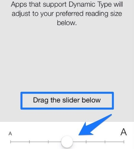 Enable Dynamic Text Size In Apps That Support It With iOS 7 Beta [iOS Tips]