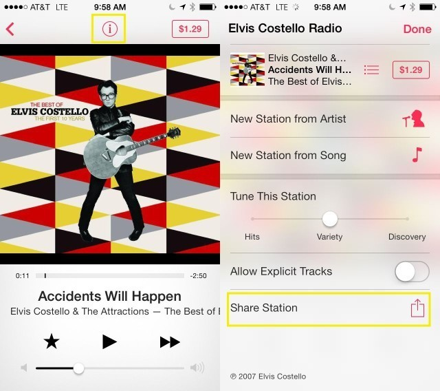 How To Share Your iTunes Radio Stations [iOS Tips]
