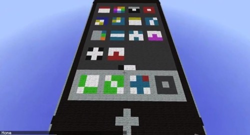 Check out this amazing 'working' iPhone in Minecraft