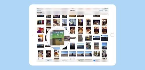 How to rearrange photos in iOS 11