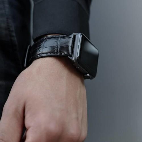 Unleash the beast! Go faux crocodile with Strapa's Crocodilus Apple Watch band
