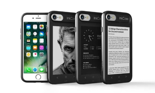 The InkCase adds a second screen to your iPhone 7 Plus