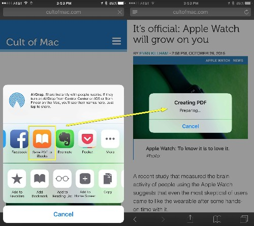 Pro Tip: How to save web pages to iBooks for offline viewing
