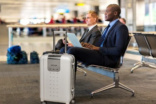 This rolling luggage keeps tech travelers plugged in