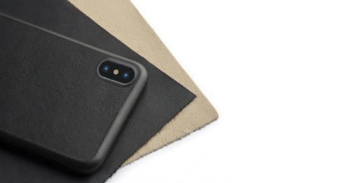 This leather case is a perfect fit for iPhone X