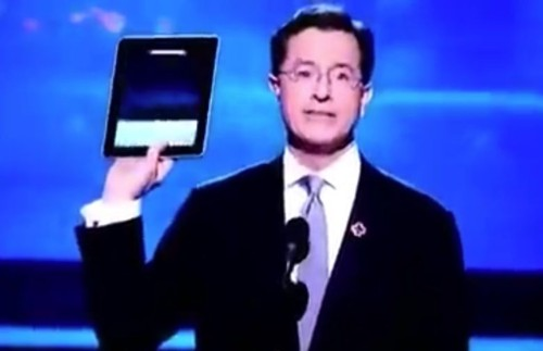 Today in Apple history: Stephen Colbert shows off iPad early at Grammys