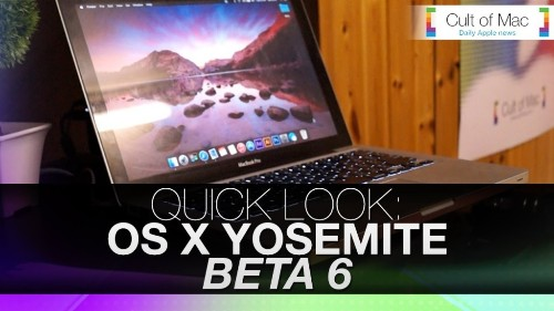 Take quick a look at OS X Yosemite Beta 6 in action