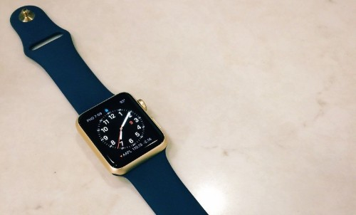 Get a closer look at the el cheapo gold Apple Watch