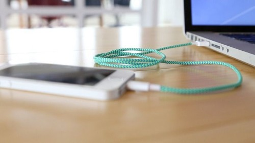 Charge your iPhone in style with this reversible USB charging cord