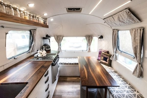 A Gleaming Airstream Borrows Space-Saving Tips From Boat Design