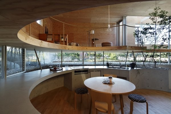 This Japanese Home Has a Sunken Interior That Blends Into the Earth
