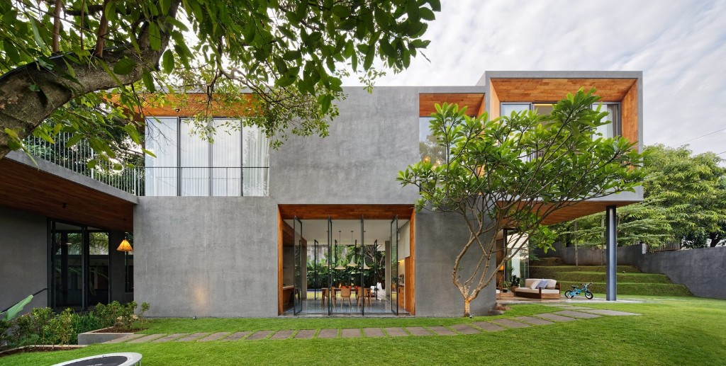 House of Inside and Outside Modern Home in Jawa Tengah, Indonesia